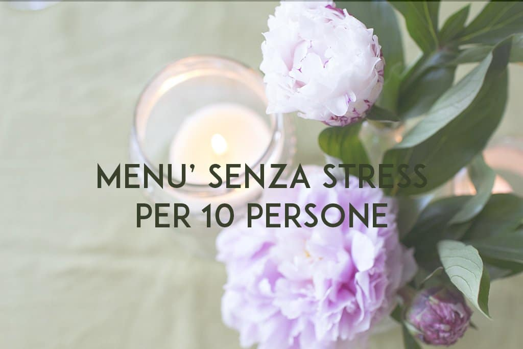 MENU SENZA STRESS
