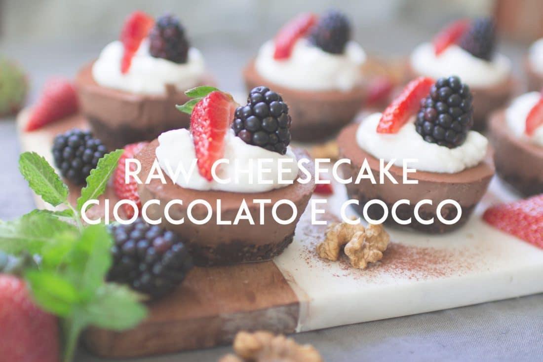 raw cheesecake cioccolato e cocco