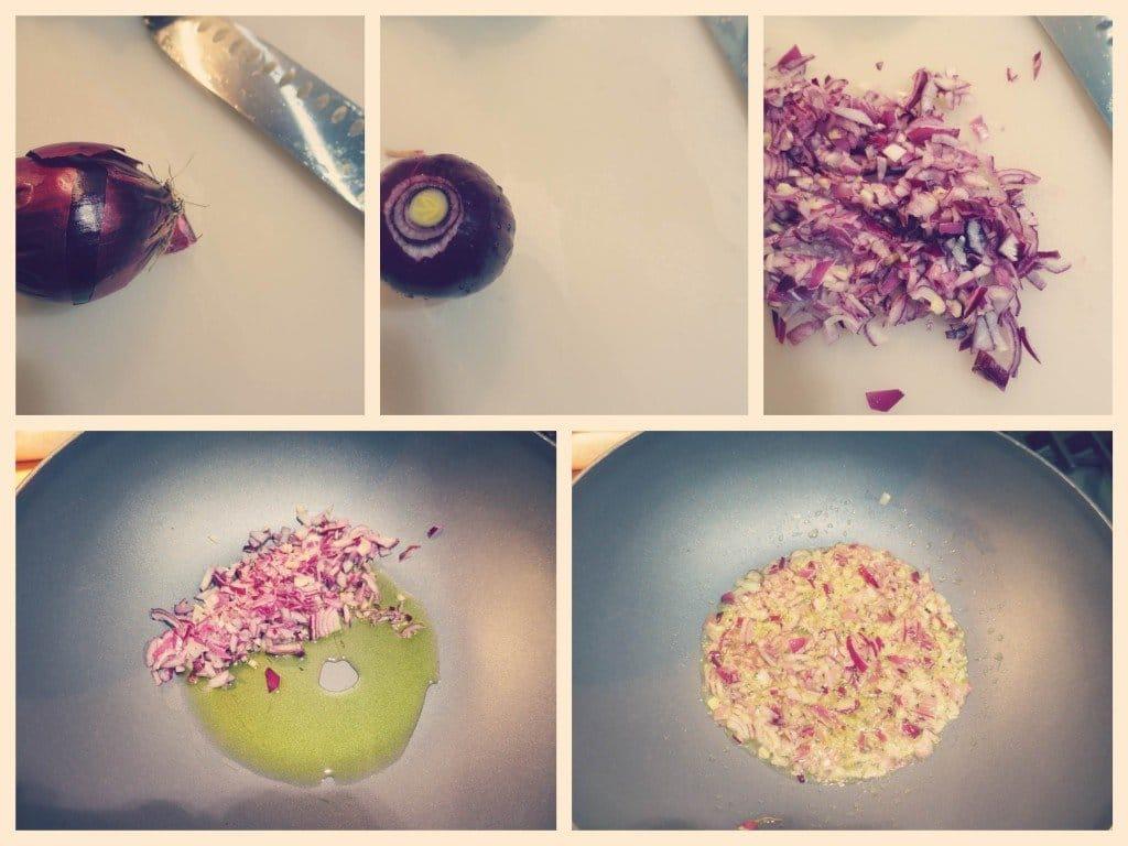 fagottini di sfoglia con radicchio tardivo, olive nere e fonduta di taleggio