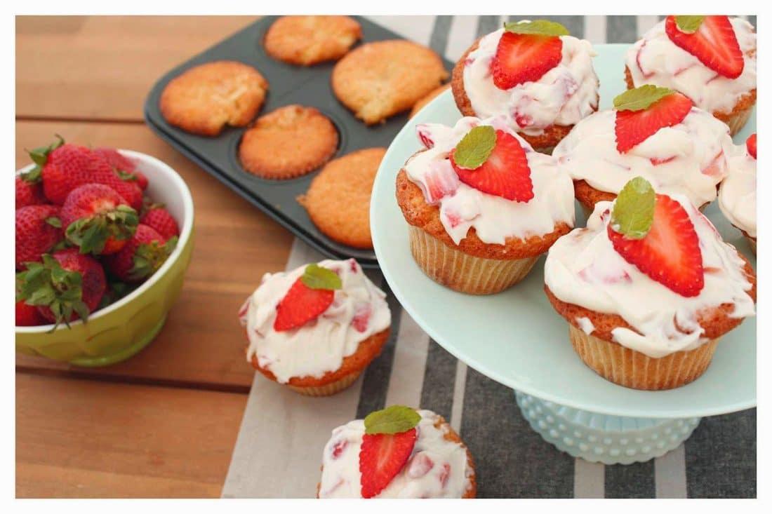 cupcakes fragole e cioccolato bianco