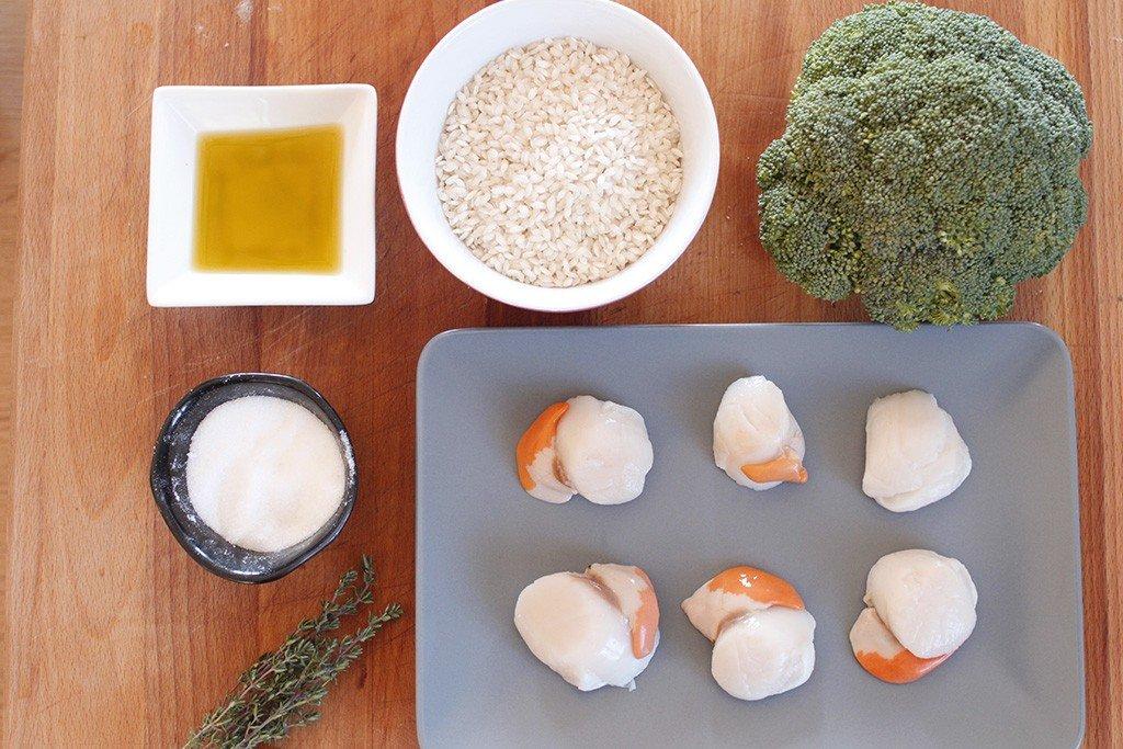 risotto ai broccoli e capesante