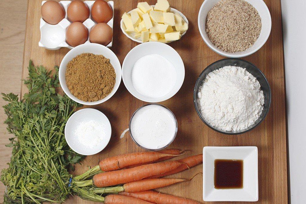 crostatine alle mandorle con crema di carote