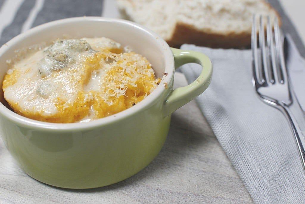 polenta alla zucca e gorgonzola
