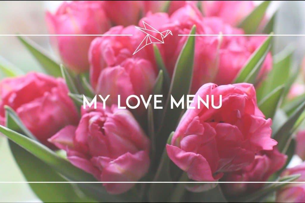 il mio menù dell'amore