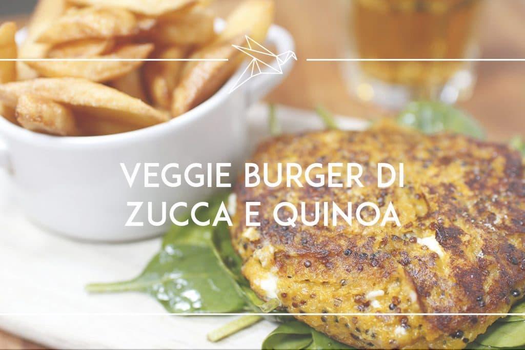 Veggie burger con zucca e quinoa