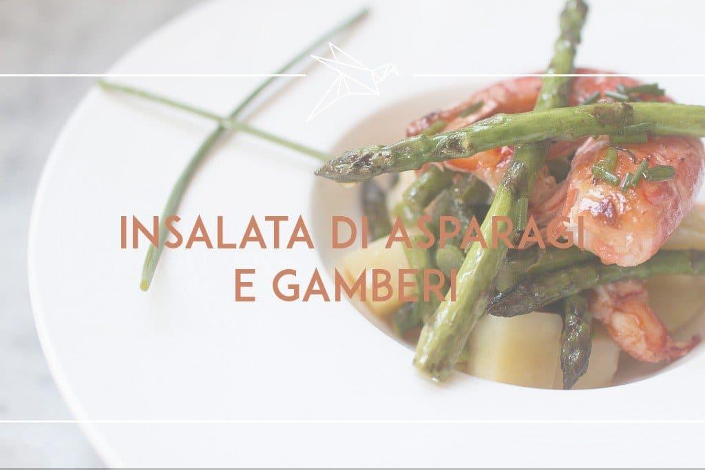 insalata di asparagi e gamberi
