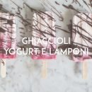 ghiaccioli yogurt e lamponi