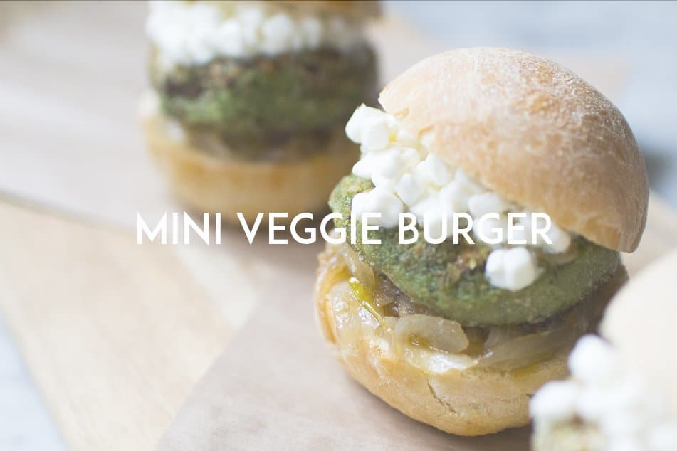 mini veggie burger