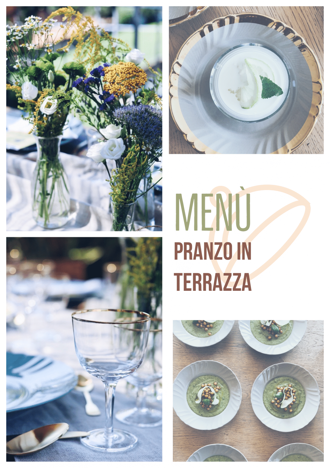 menu' pranzo in terrazza