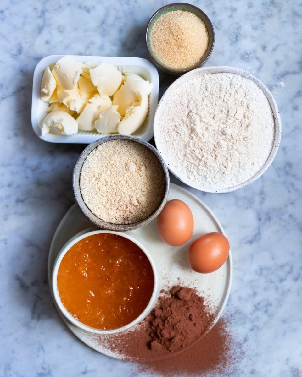 FGiovannini_The Bluebird Kitchen_crostata integrale alle mandorle e cioccolato con marmellata d'arancia_ingredienti