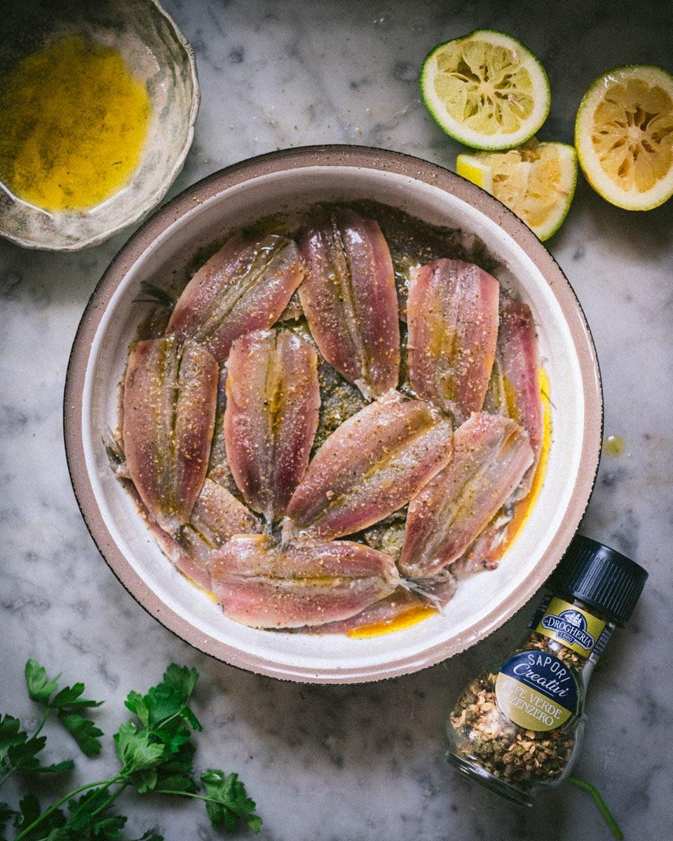 Insalata di patate_ marinatura sardine