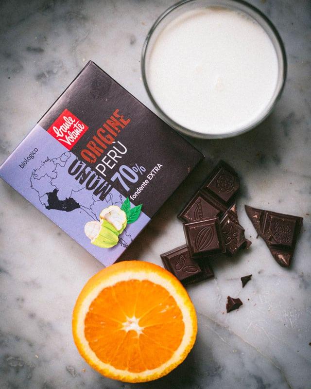 crostatine al cioccolato_e arancia_ingredienti