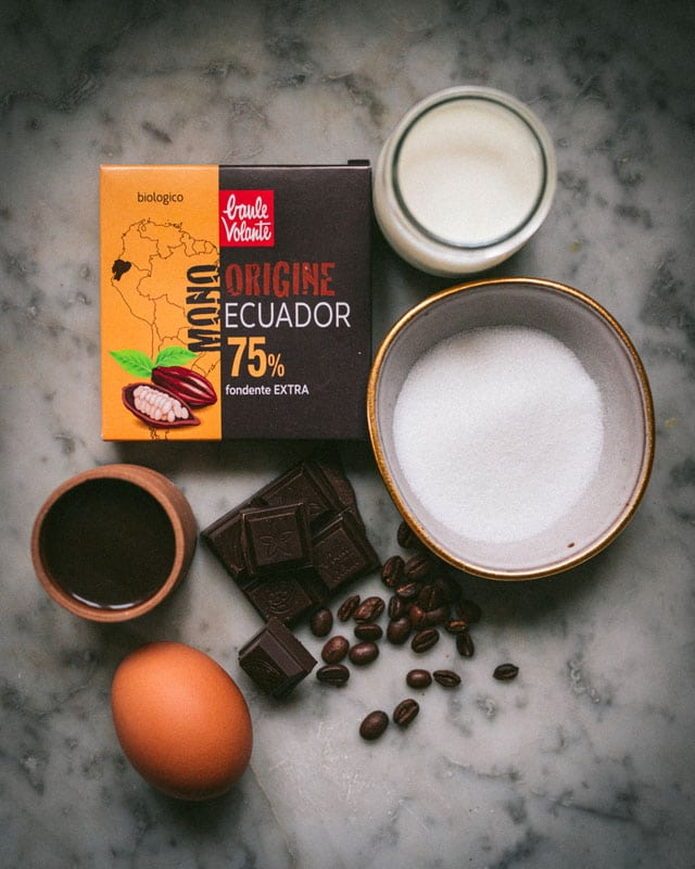 crostatine al cioccolato_e caffè_ingredienti